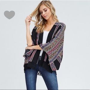 Sweaters - Colorful multi print kimono ( LAST ONE )